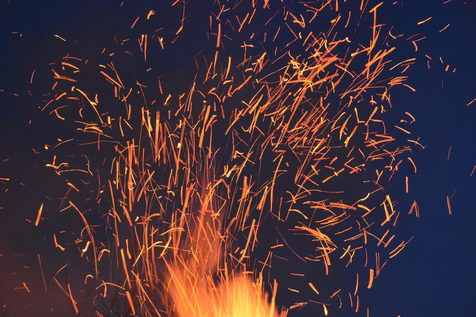 abstract art blaze bonfire